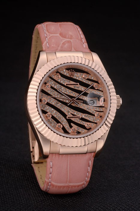 Swiss Rolex Datejust Special Edition 2012 Pale Pink Leather Strap 80253