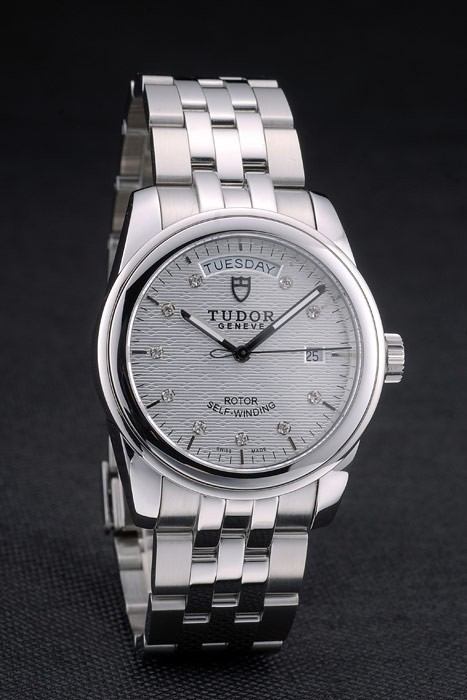 Swiss Tudor Classic Stainless Steel Bracelet Silver Patterned Silver Dial 80298